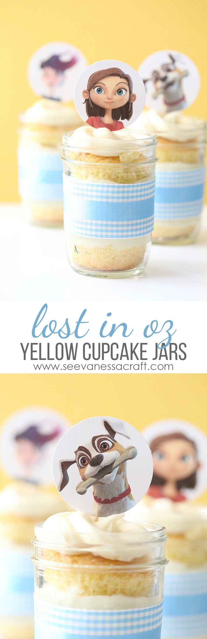 Lost in Oz Yellow Cupcake Mason Jars copy