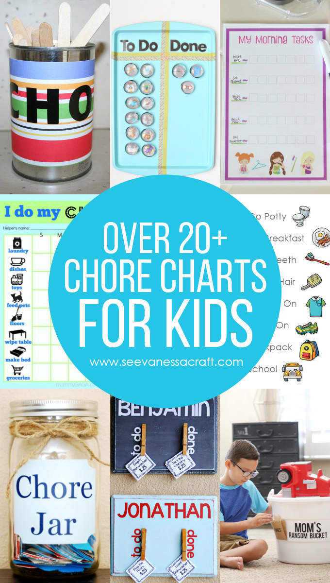 Over 20 Chore Charts for Kids