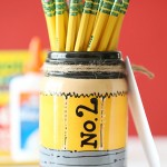 Craft: Back to School Pencil Mason Jar Teacher Gift