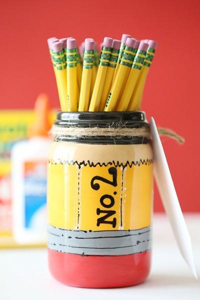 Craft: Back to School Pencil Mason Jar Teacher Gift