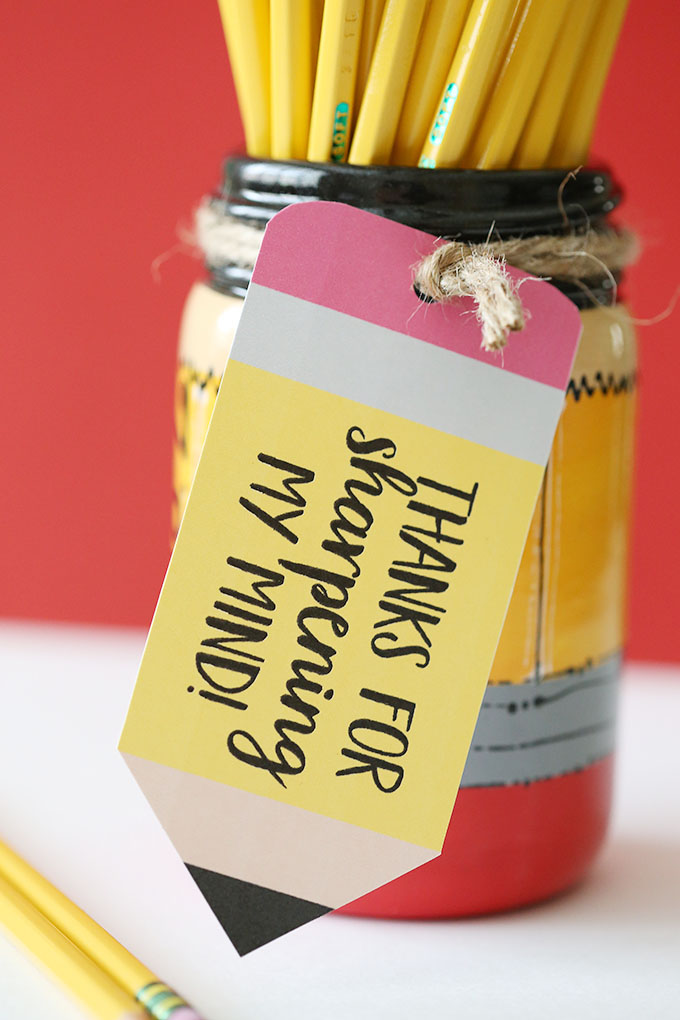 Pencil Mason Jar Teacher Gift 5 copy