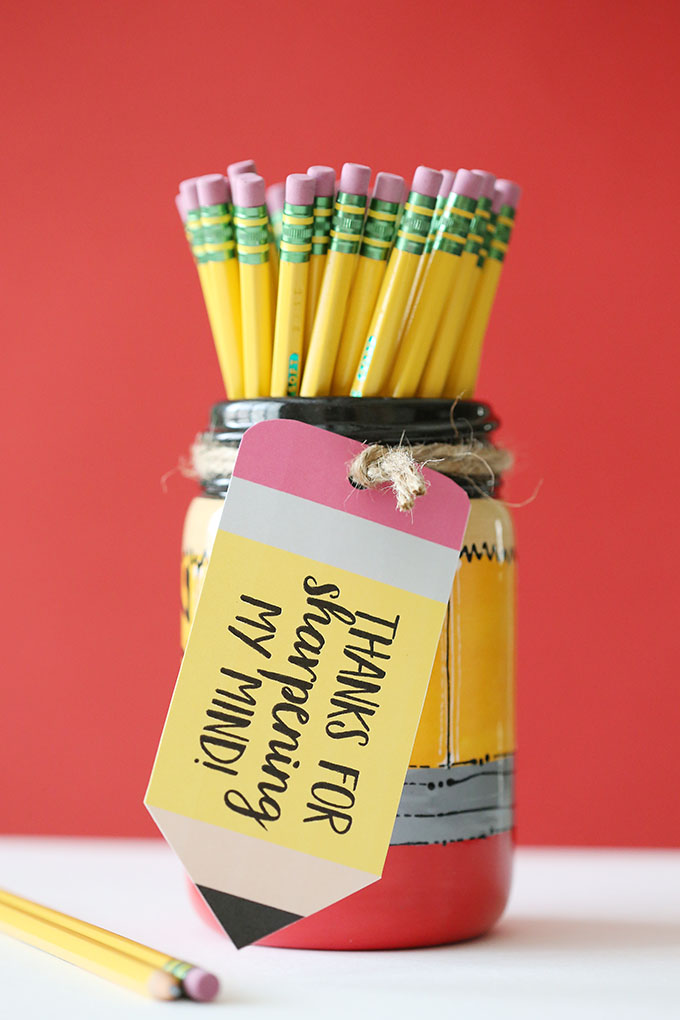 Pencil Mason Jar Teacher Gift 6 copy