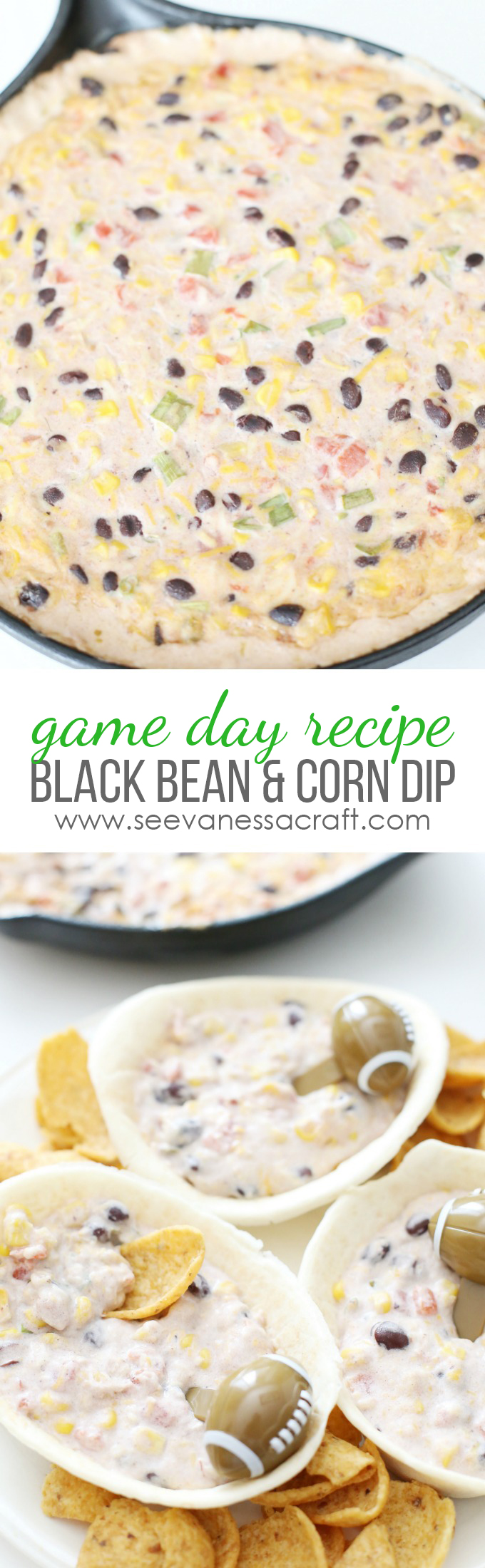 Cheesy Black Bean and Corn Dip Recipe copy