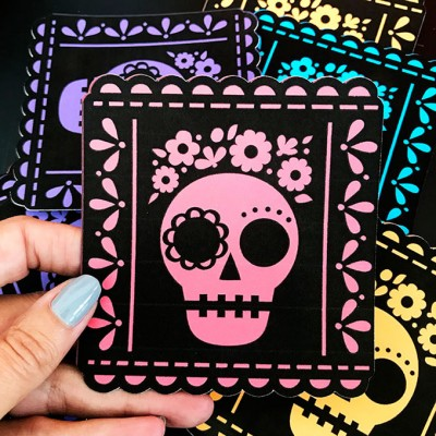Day of the Dead Picado Banner Tutorial