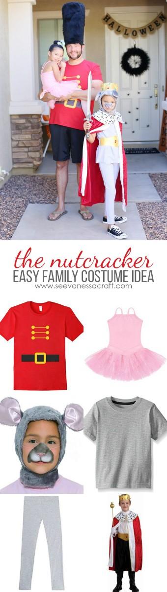 Easy Last Minute Nutcracker Family Halloween Costume Idea