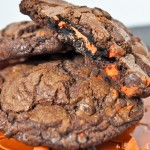 Halloween: Oreo Stuffed Double Chocolate Cookies