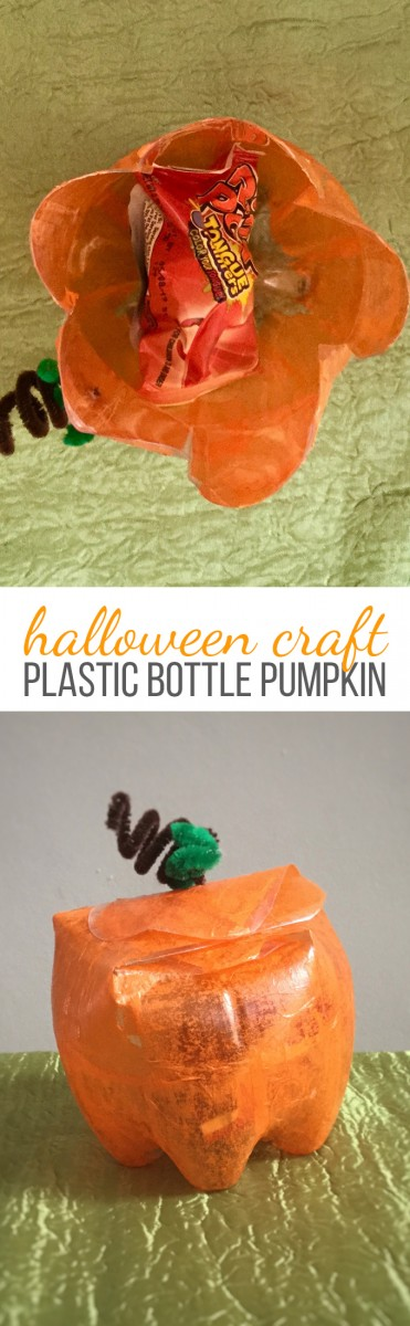 Halloween Plastic Bottle Pumpkin Craft for Kids