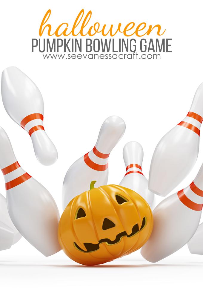 Halloween Pumpkin Bowling Game for Kids