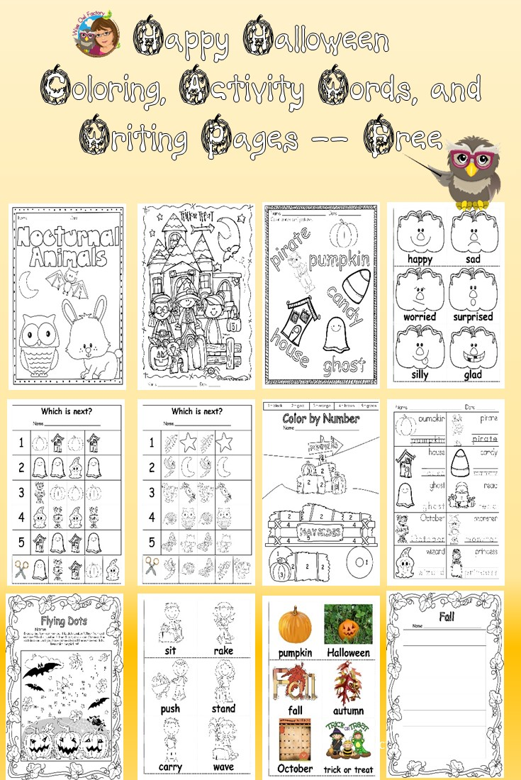 Halloween-activity-writing-and-coloring-pages