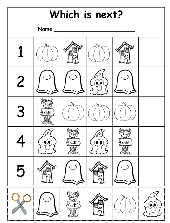 graphic about Halloween Printable named Halloween: Exciting Finding out Printables for Little ones - Check out Vanessa Craft