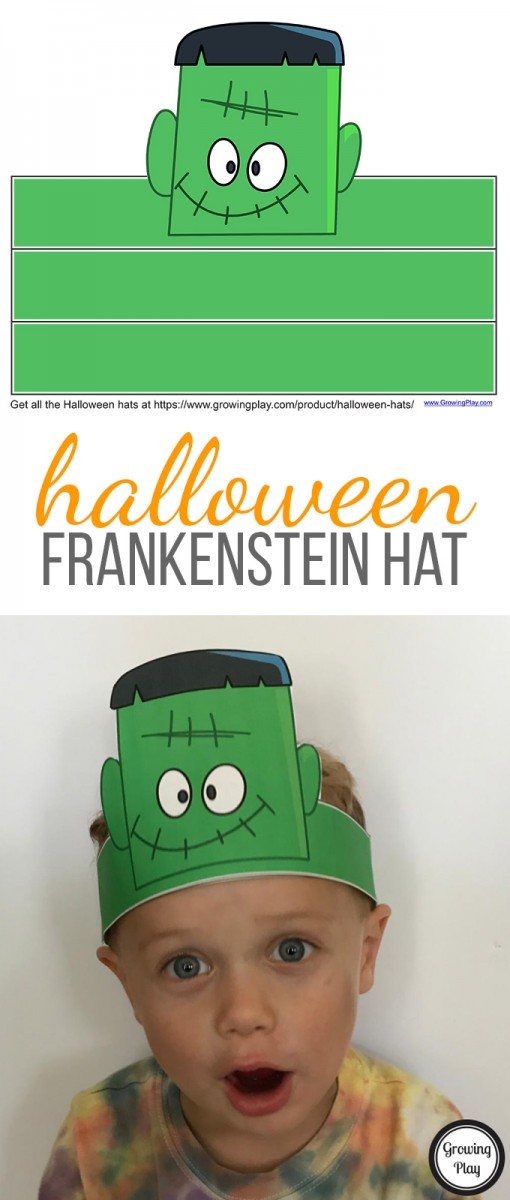 Printable Halloween Frankenstein Hat for Kids