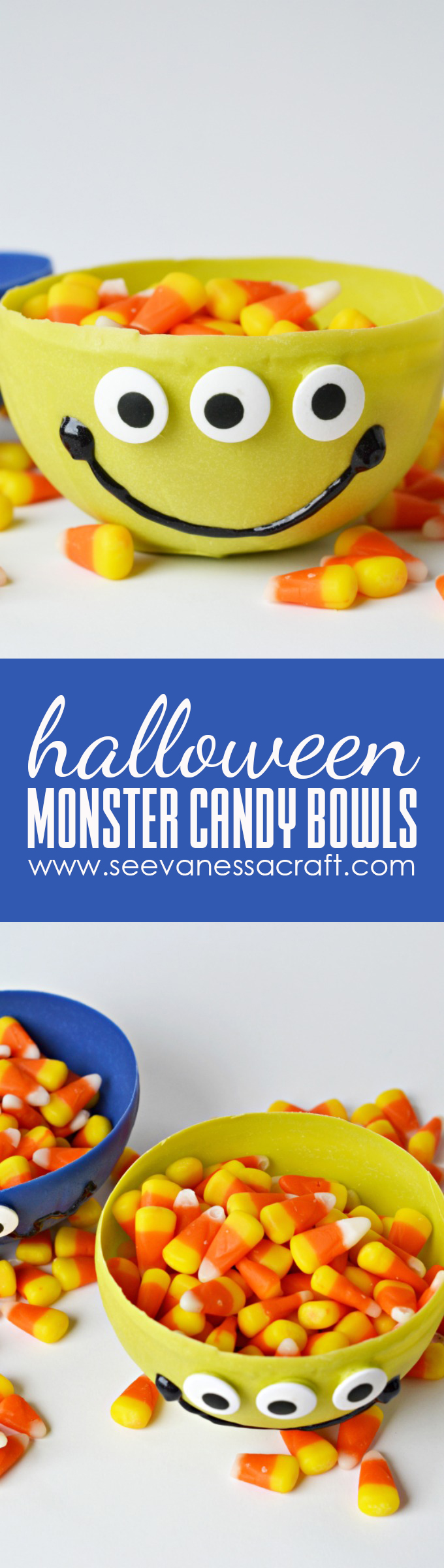 Chocolate Monster Candy Bowls Tutorial for Halloween