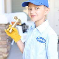 Halloween: DIY Fix It Felix Jr Costume from Disney Wreck It Ralph