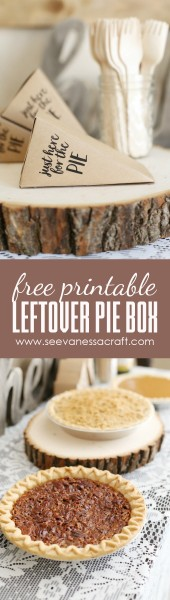 Free Printable Leftover Thanksgiving Pie Box