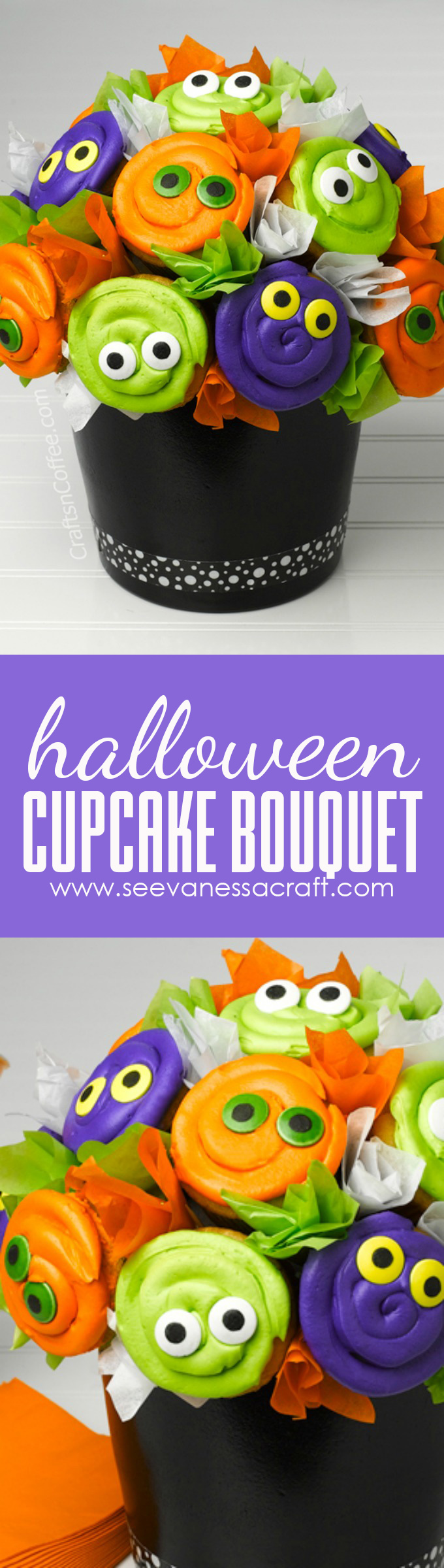 Halloween Cupcake Bouquet Tutorial copy