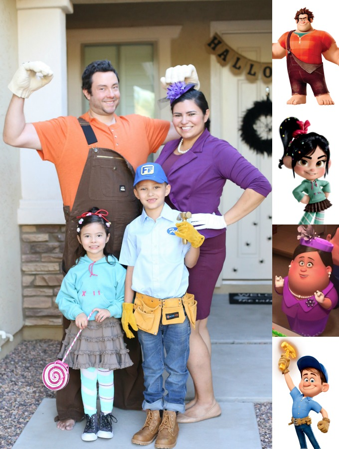 Halloween Family Costume Disney Wreck It Ralph  sc 1 st  See Vanessa Craft : unique disney halloween costumes  - Germanpascual.Com