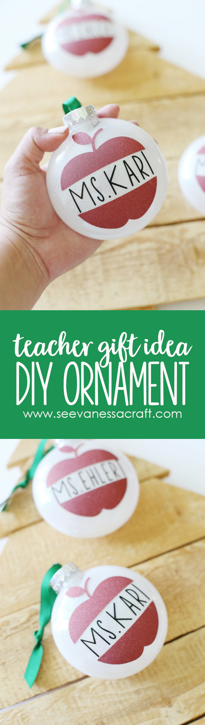Handmade Ornament Christmas Teacher Gift Idea