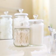 Craft: Upcycled Chalk Paint Bathroom Jars
