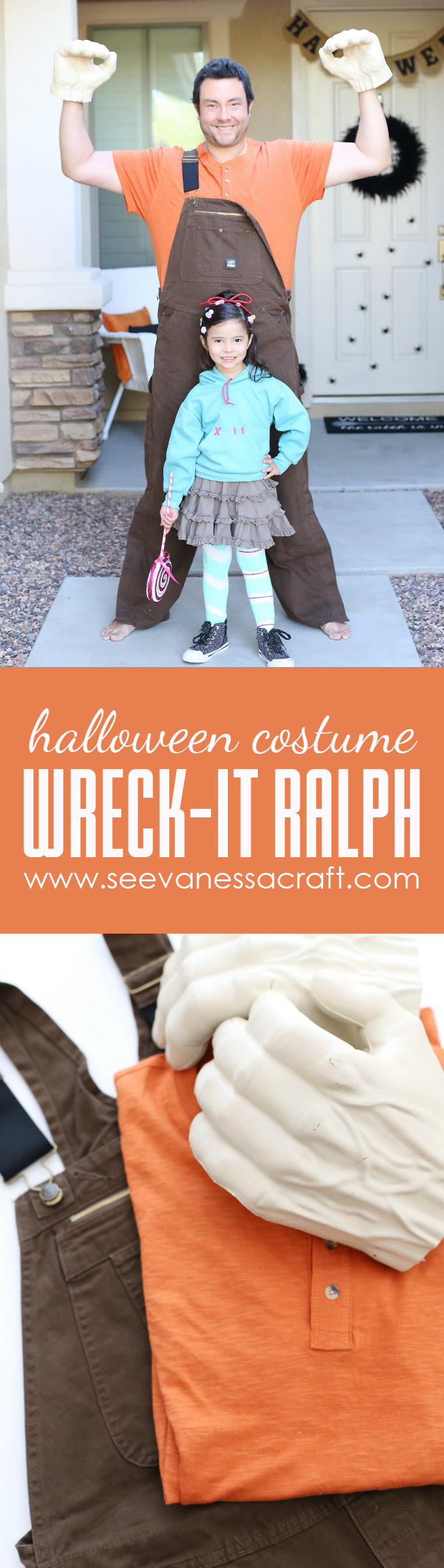 Wreck It Ralph Halloween Costume Tutorial