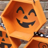 Halloween: Hexagon Pumpkin Jack-O-Lanterns