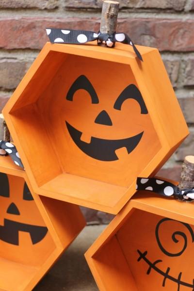 Halloween: Hexagon Pumpkin Jack-O-Lanterns