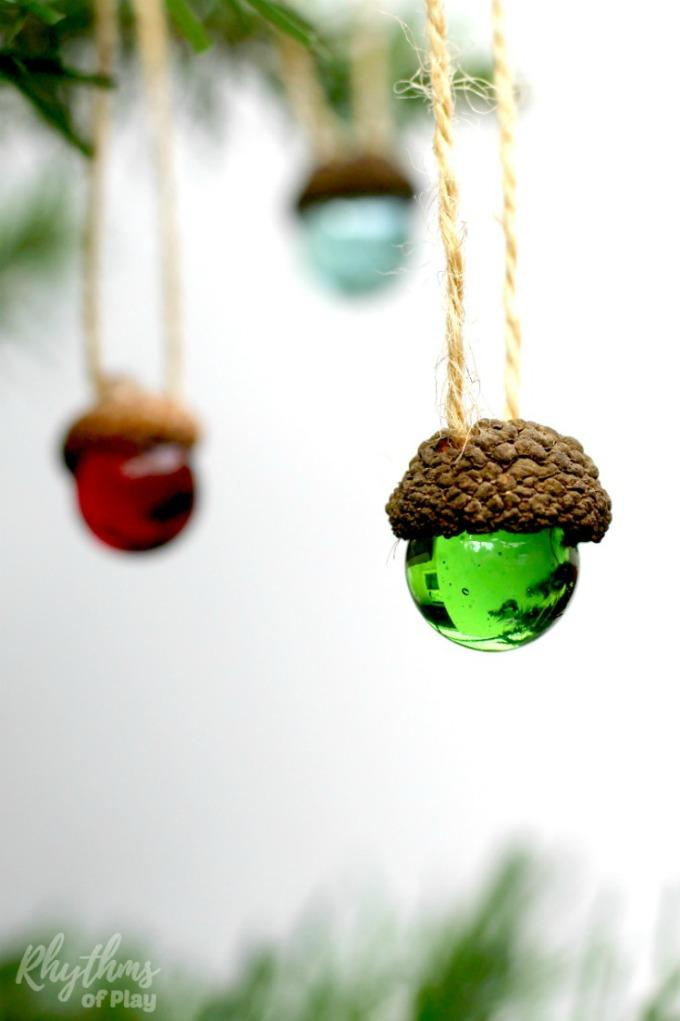 DIY-Rustic-Acorn-Marble-Ornaments