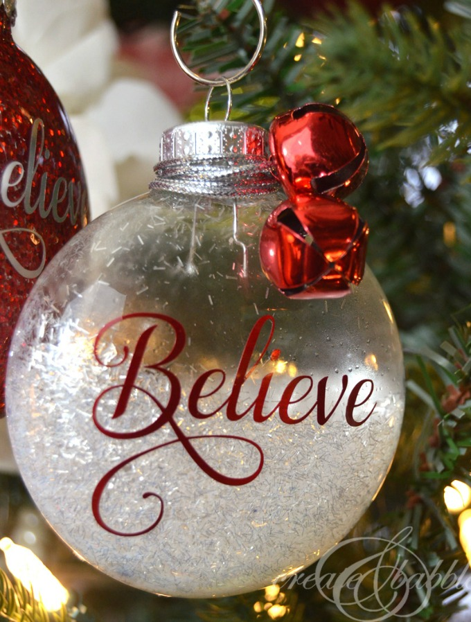 DIY glitter Christmas ornaments