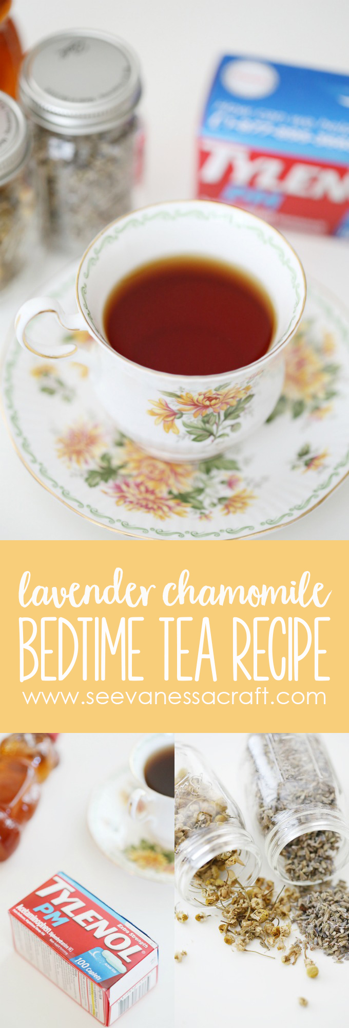 Lavender Chamomile Homemade Tea Recipe for Sleep copy