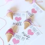 Valentine's Day: Printable Ice Cream Lip Balm Cards