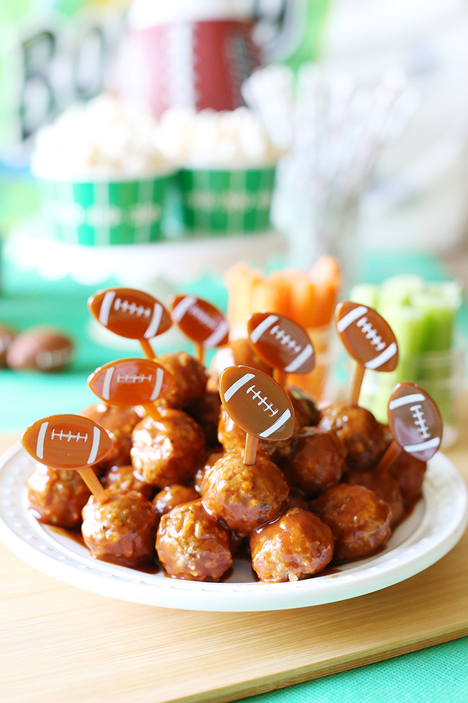 Instant Pot Game Day BBQ Meatballs 1 copy