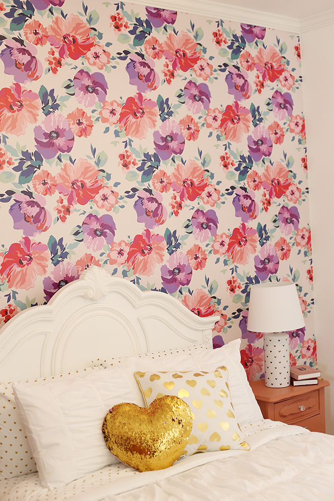 Purple and Pink Floral Big Girl Room 10 copy