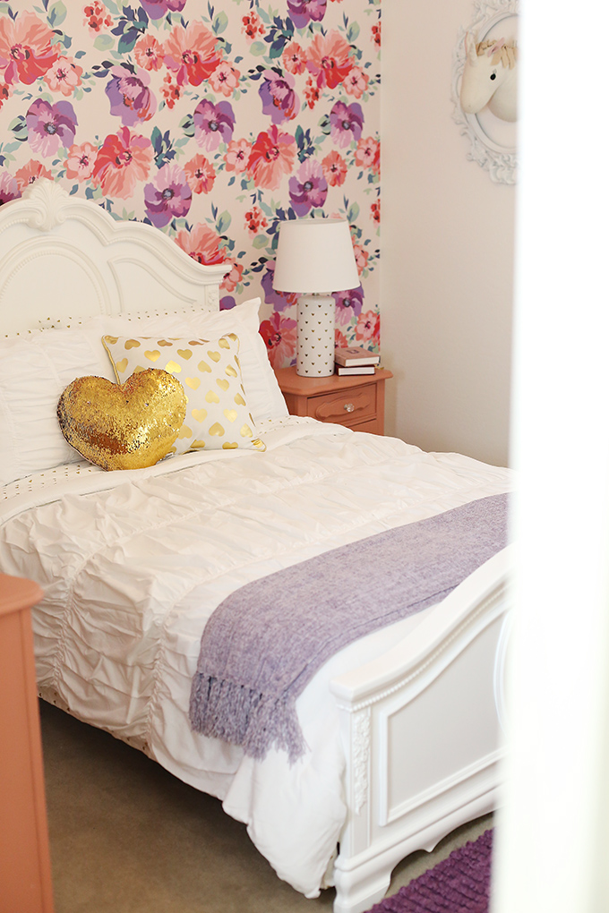 Purple and Pink Floral Big Girl Room 9 copy