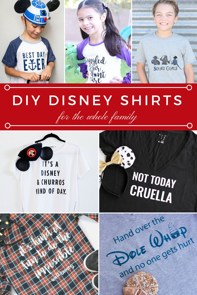 DIY Disney Shirts Collage