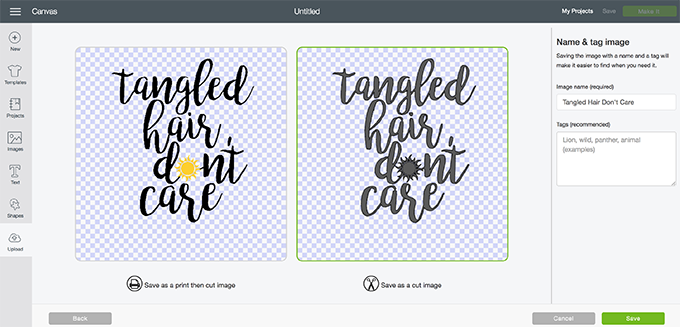 How to upload an image in Cricut Design Studio