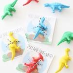 Valentine's Day: Printable Dinosaur Cards for Kids