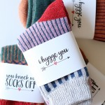 "Valentine's Day: ""I Hygge You"" Printable Socks Gift"