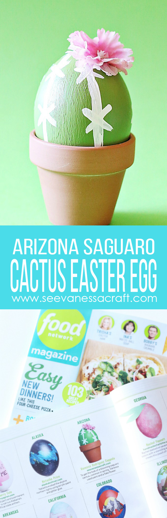 Arizona Cactus Easter Egg As Seen In Food Network Magazine copy