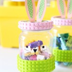 Easter: LEGO Tape Bunny Jar