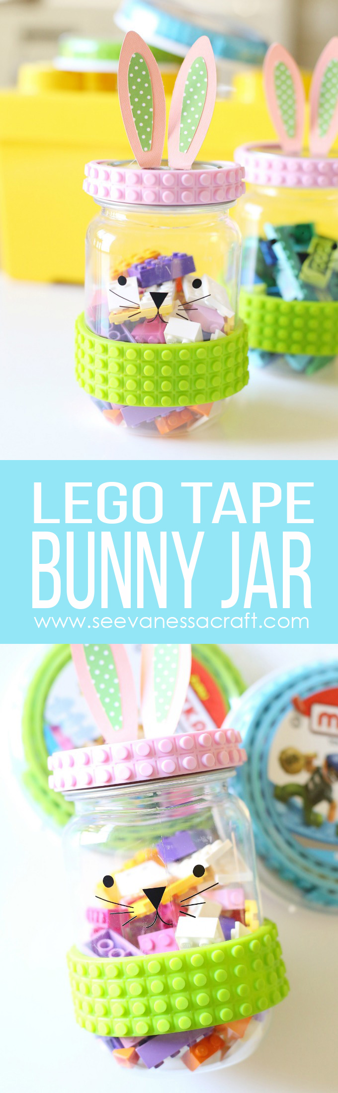 Mayka Tape Easter Bunny LEGO Jar Craft copy