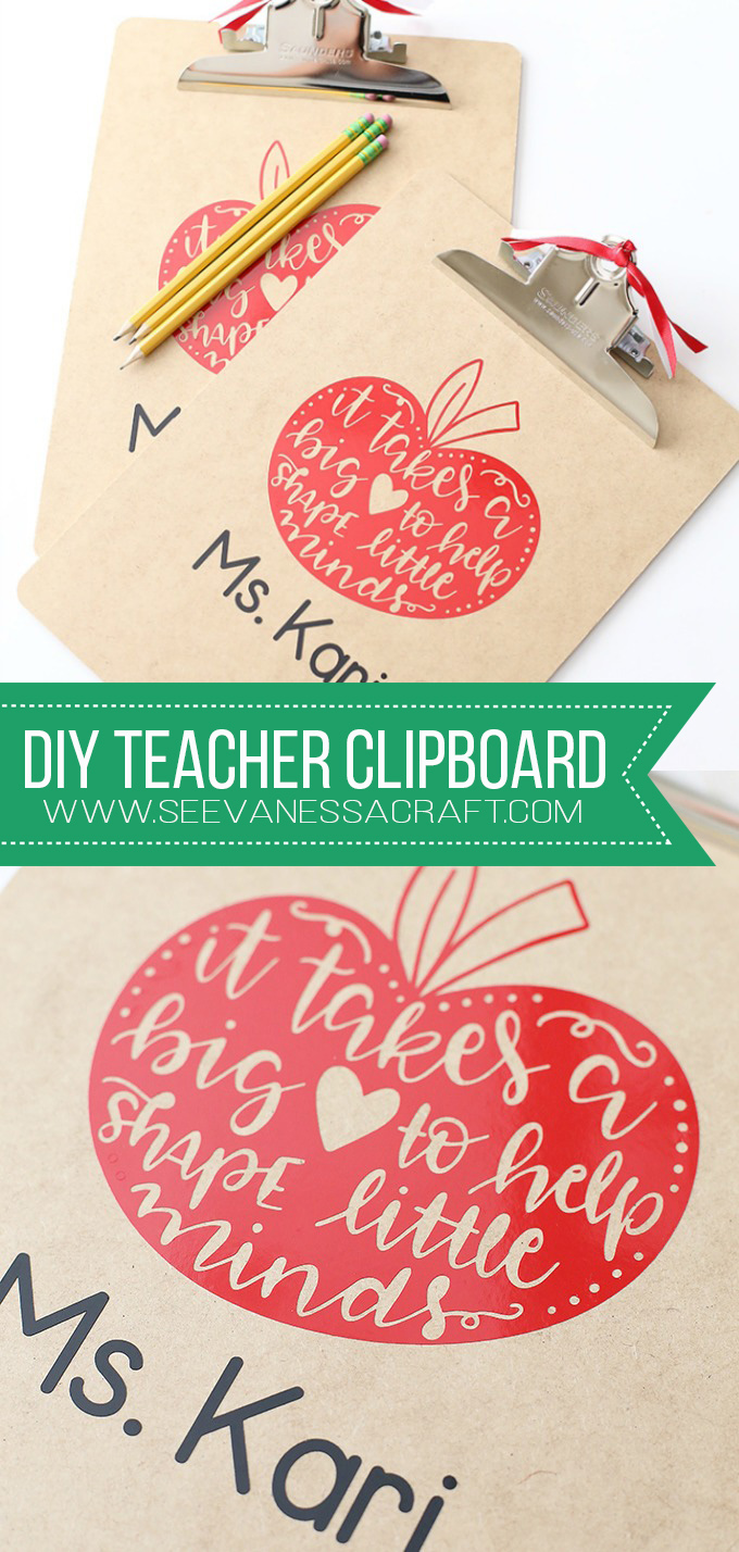 DIY Teacher Appreciation Clipboard Gift Idea