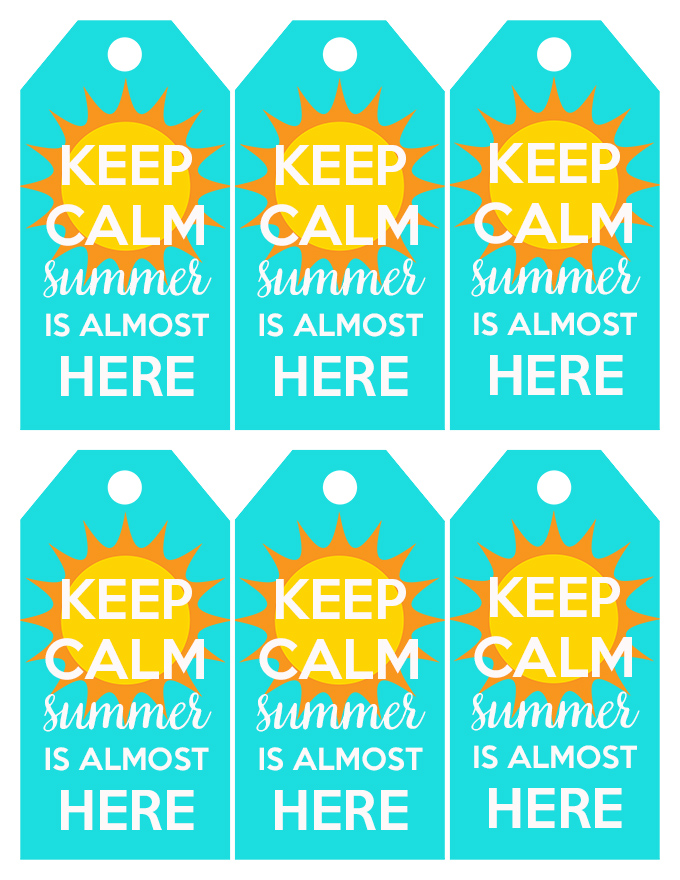 Keep Calm Summer Is Almost Here Tags
