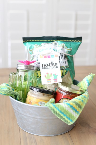 Teacher Appreciation Gift Basket Idea and Printable Tags