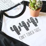 Craft: Cricut Patterned Iron On Cactus Shirt