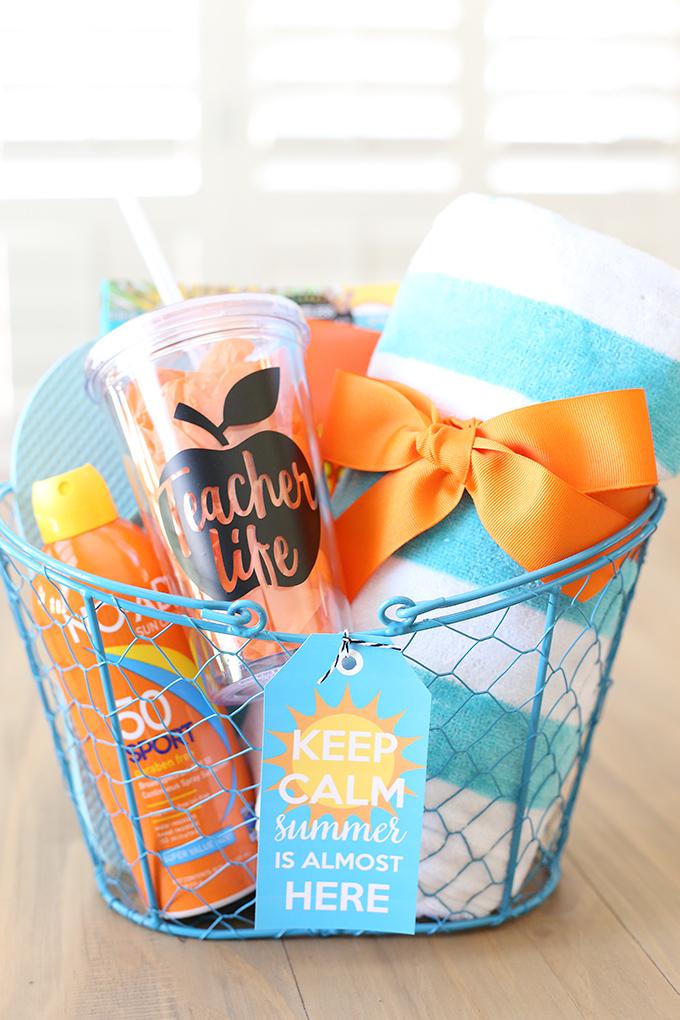 craft  keep calm summer teacher gift idea