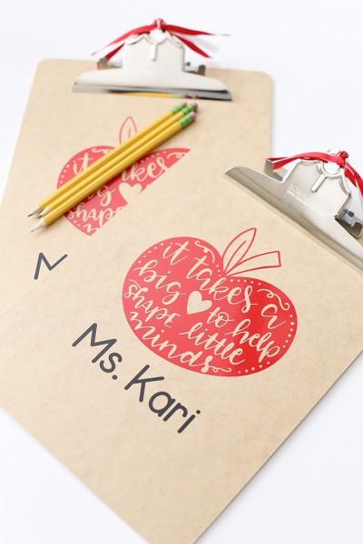 Craft: DIY Vinyl Clipboard Teacher Gift Idea