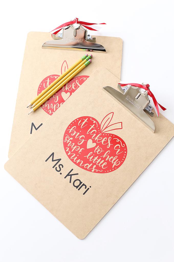 Teacher Appretiation Week Gift Idea Clipboard copy