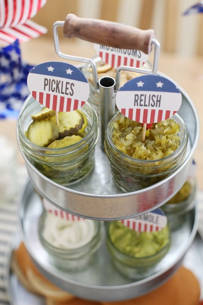 4th of July Burger Bar and Free Party Printables