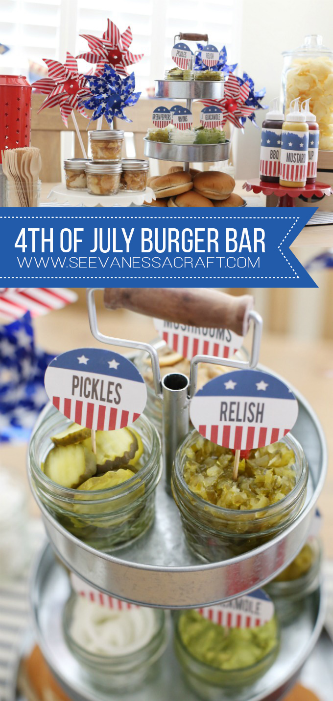 4th of July Burger Bar and Free Printables copy