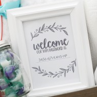DIY: Guest Welcome Basket and Wifi Password Sign