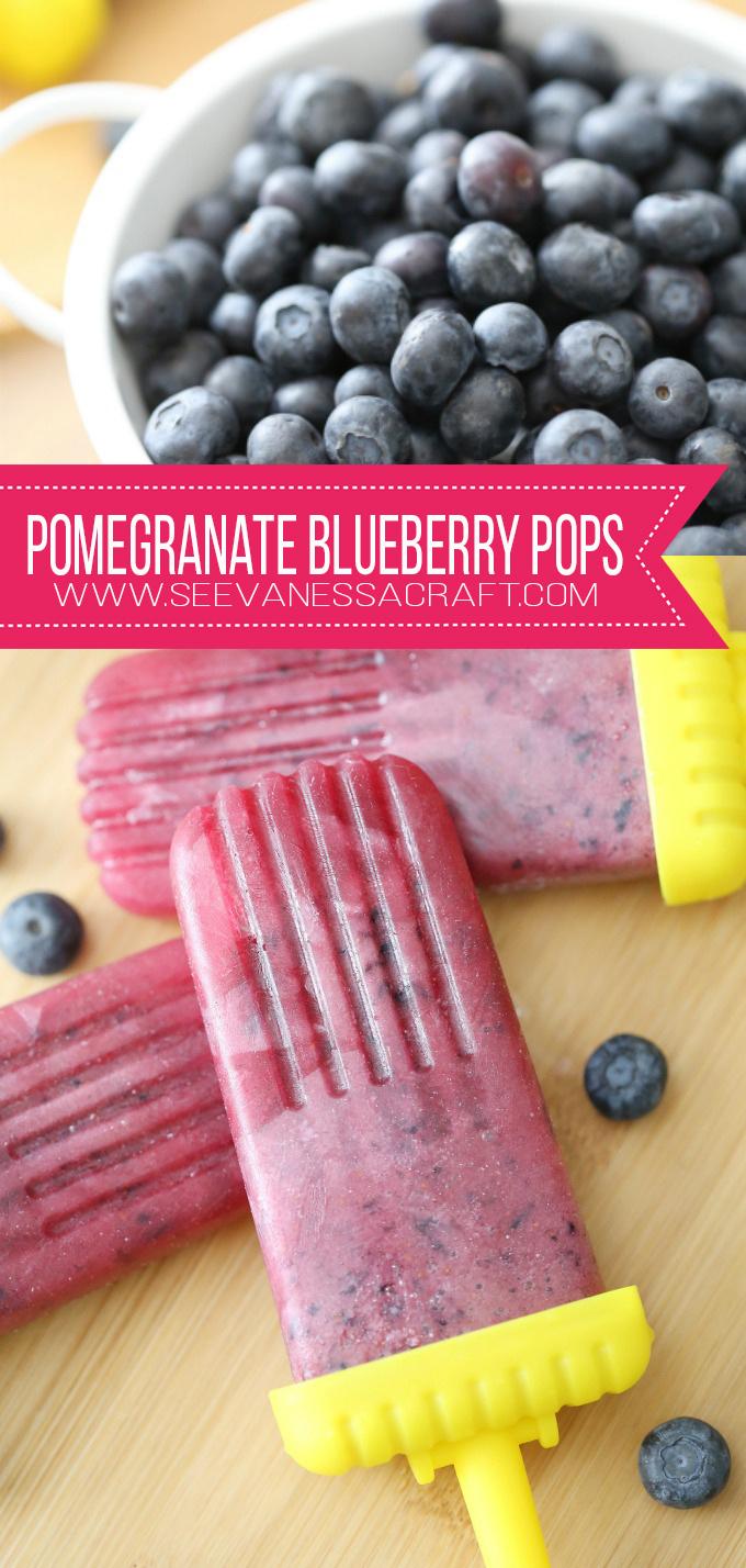 Homemade Pomegranate Blueberry Popsicle Recipe